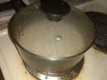 Cook with covered lid.