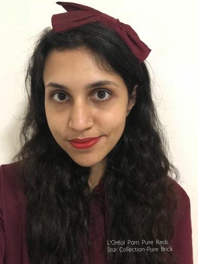L'Oreal Paris Pure Reds Lipstick-Pure Brick, L'Oreal Paris Lipstick Aishwarya Rai
